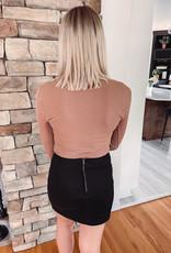 Acorn Ribbed Snap Bodysuit
