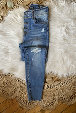 Connie High Rise Distressed Jeans