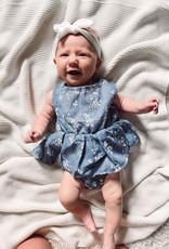 Blue Floral Infant Romper