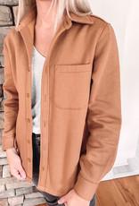 Jenn Camel Fleece Jacket