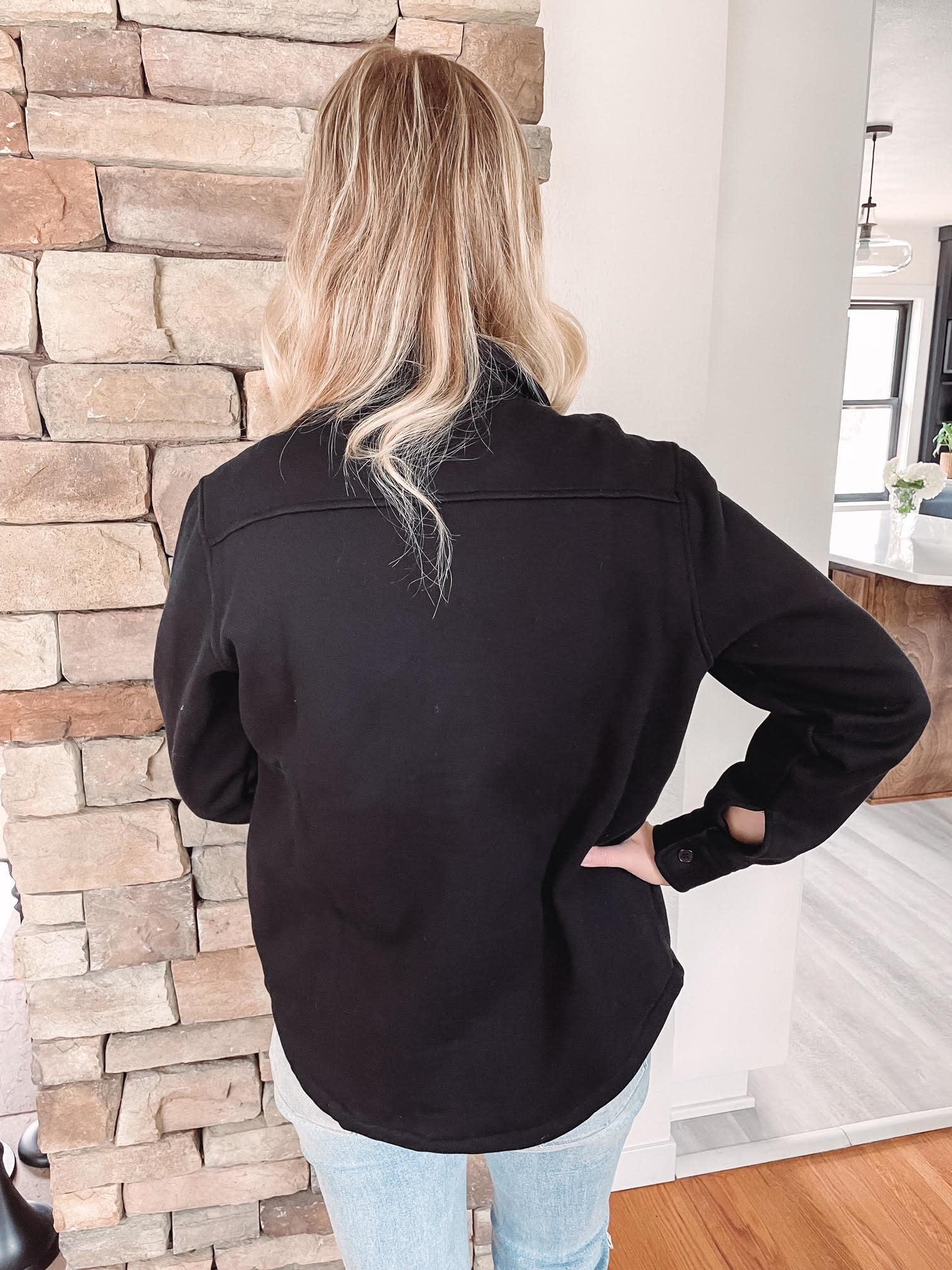 Jenn Black Fleece Jacket