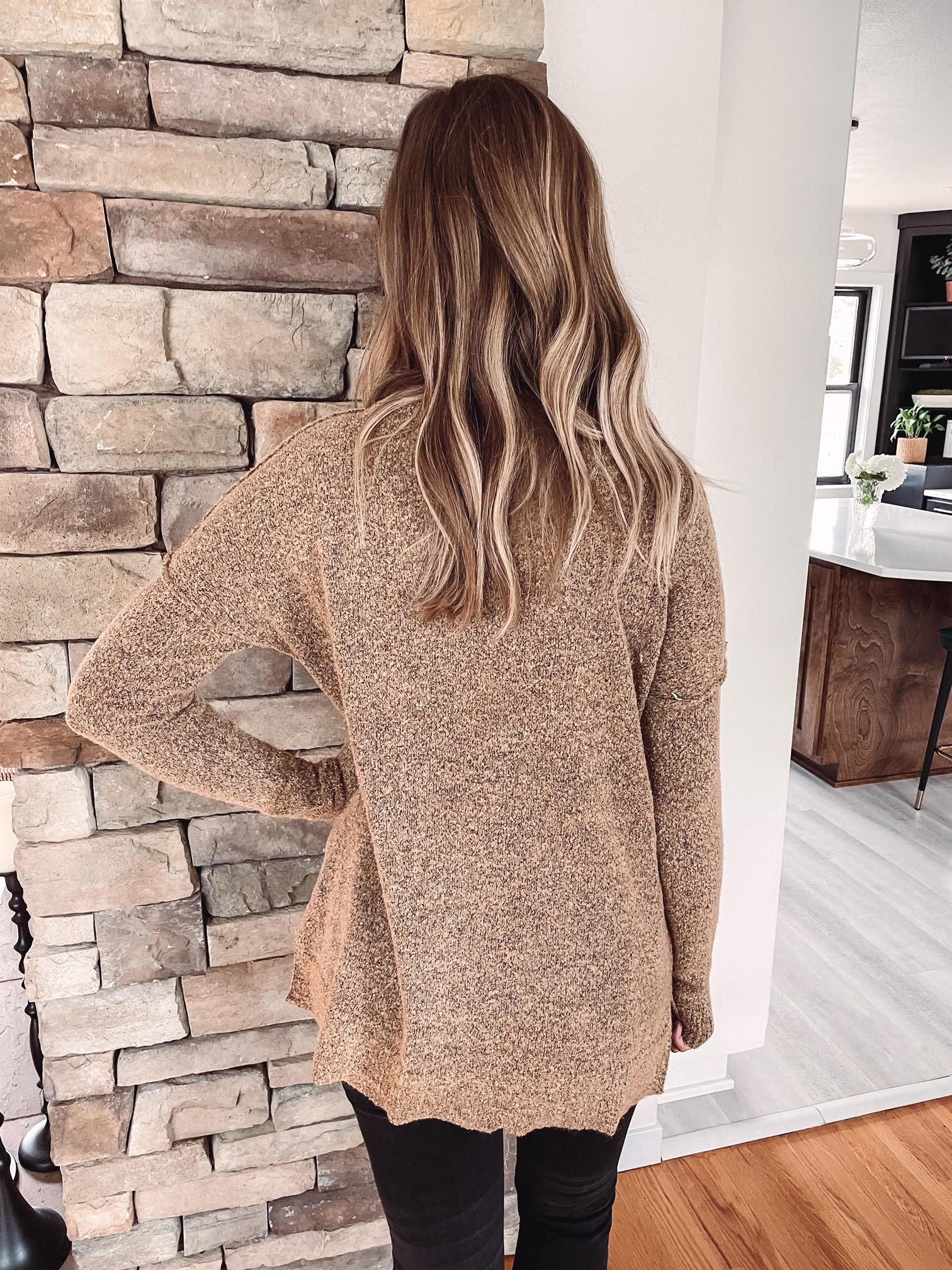 Megan Teddy Fuzzy Sweater