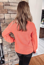 Haylee Rust Pom Pom Sweater