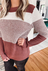 Rose + Ivory Striped Sweater