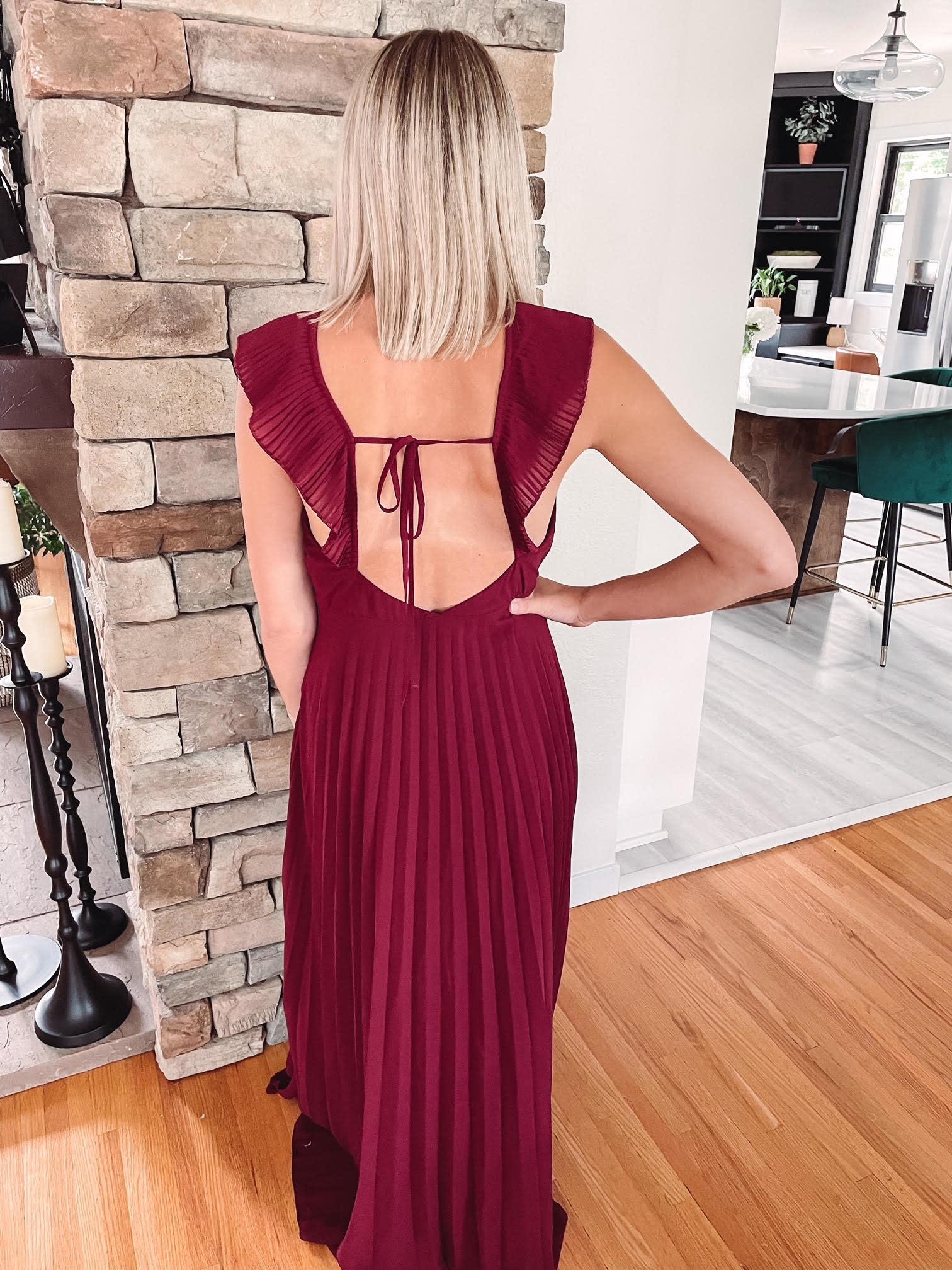 Ellie Wine Maxi Dress
