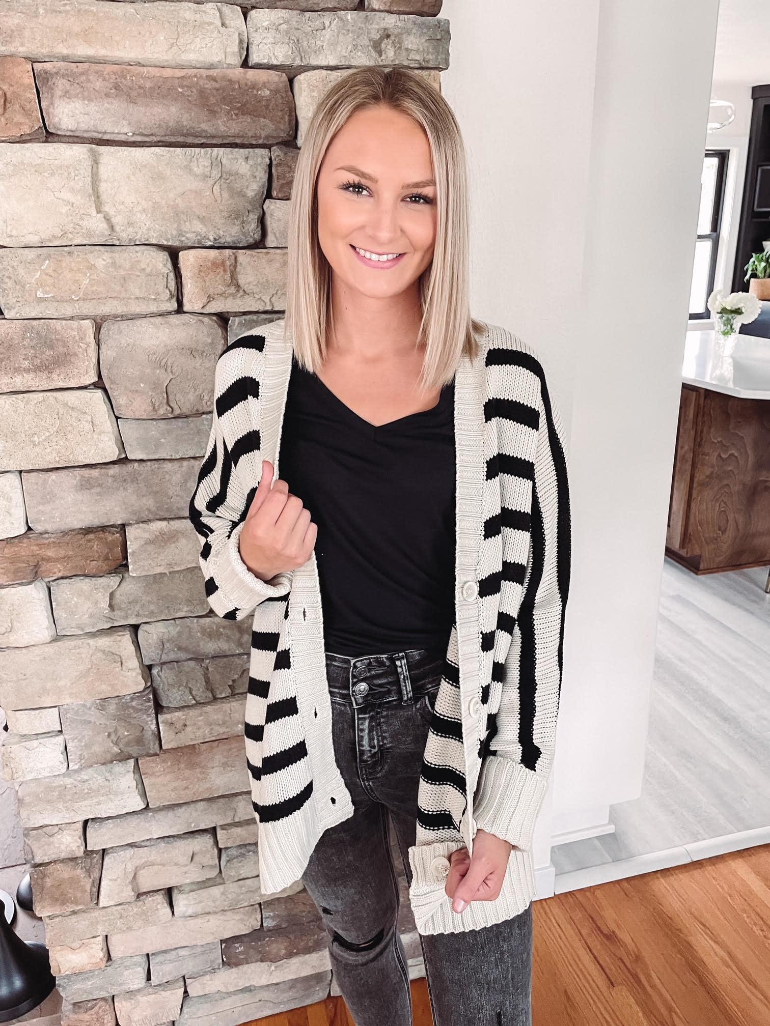 Laney Oversized Striped Cardigan