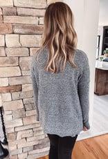 Megan Charcoal Fuzzy Sweater
