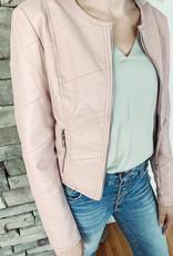 Isabella Blush Vegan Leather Jacket