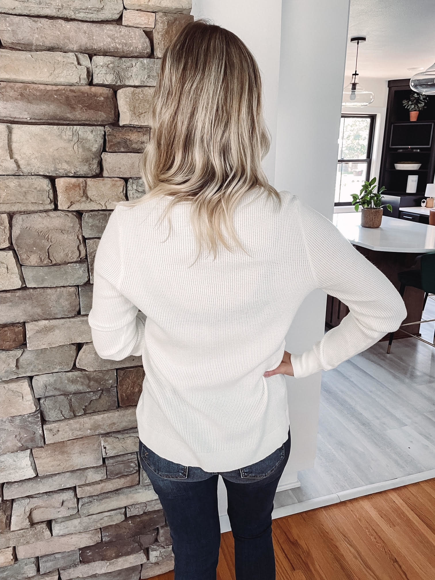 Haven White Button Thermal