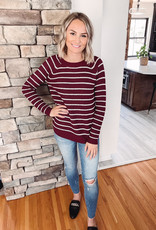 Lennox Scarlet Striped Sweater