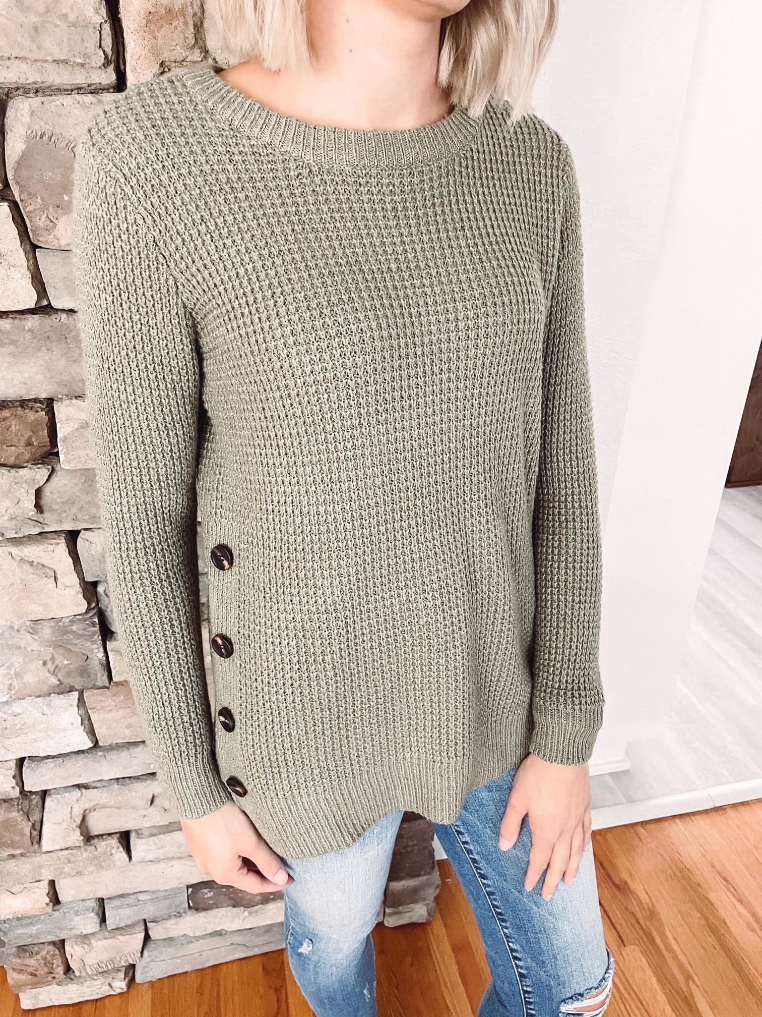 Maddie Light Olive Sweater