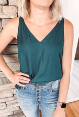 Lucy Satin Teal Green Tank
