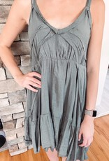 Harper Olive Boho Dress