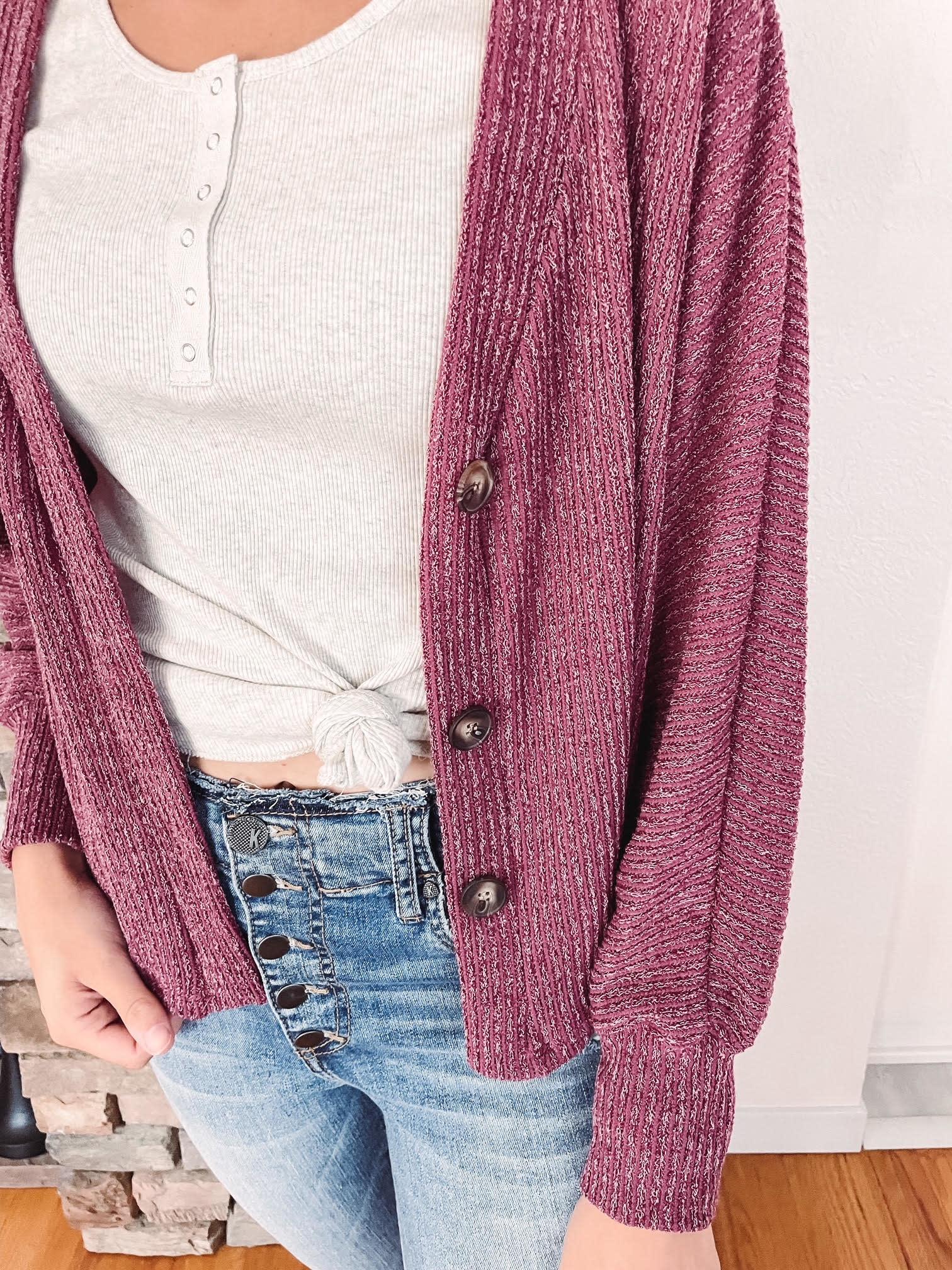 Mila Berry Knit Cardigan