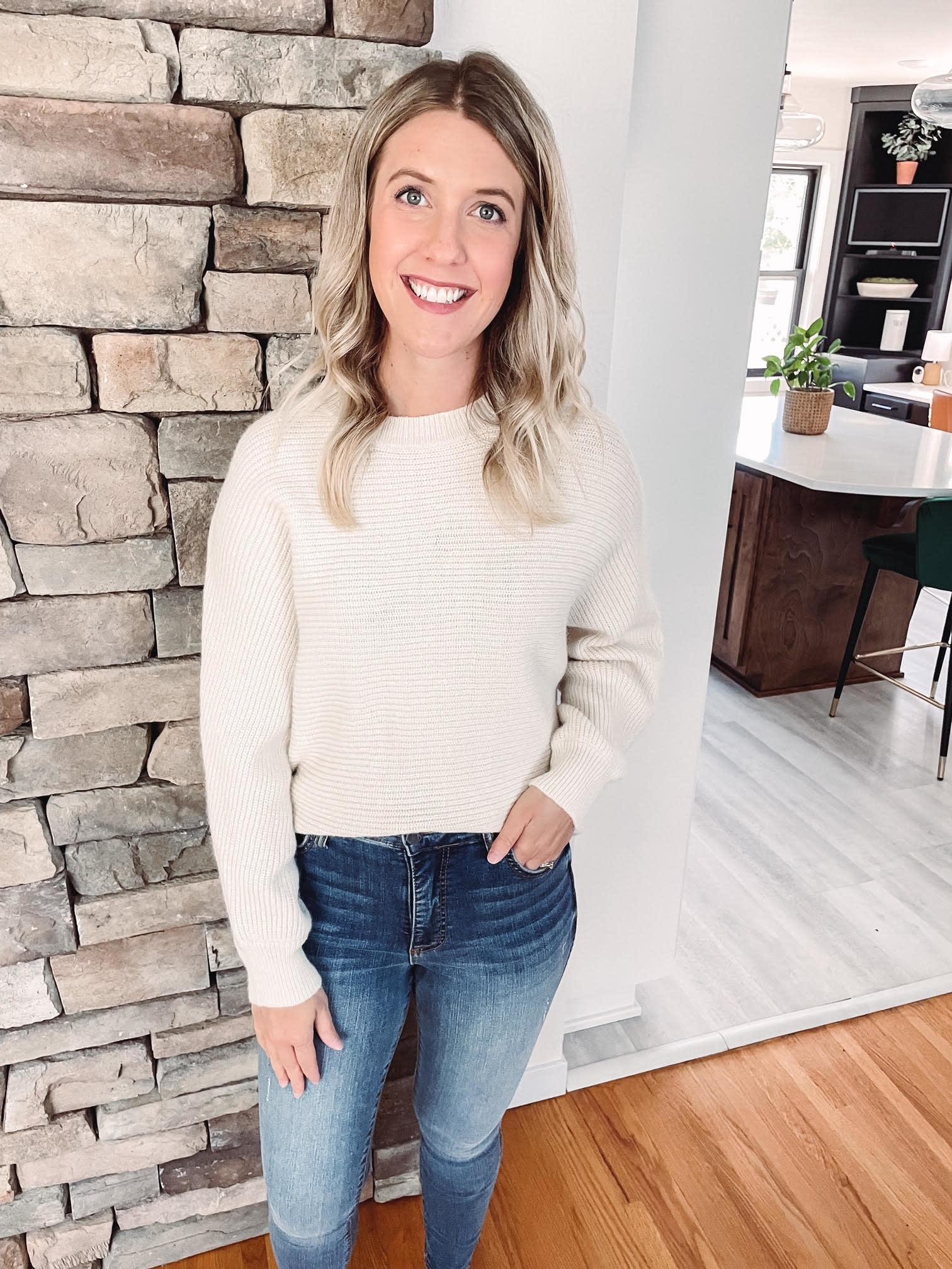 Sadie Cream Cropped Sweater