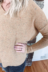 Sylvie Camel Confetti Sweater