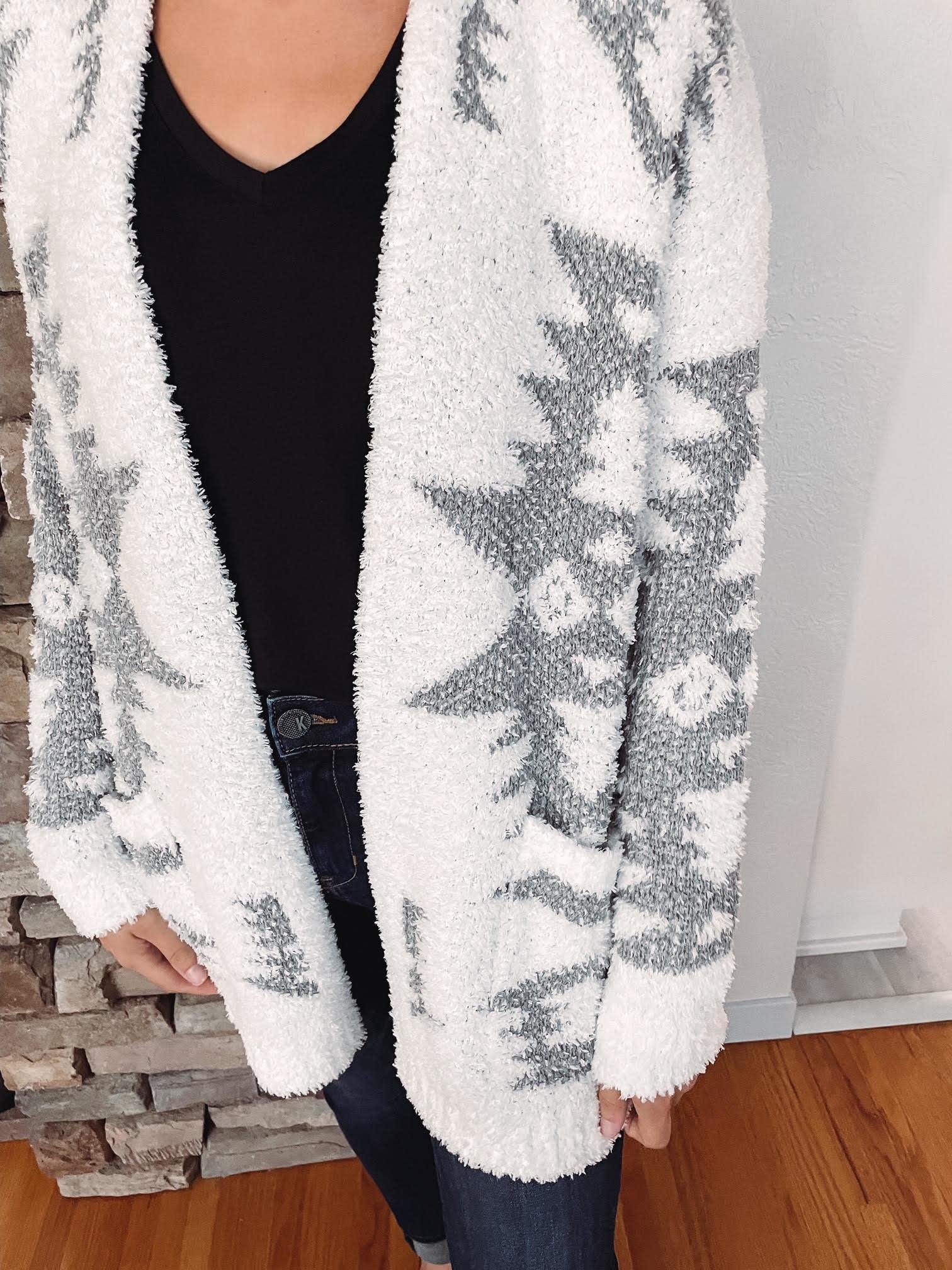 Kayla Fuzzy Aztec Cardigan