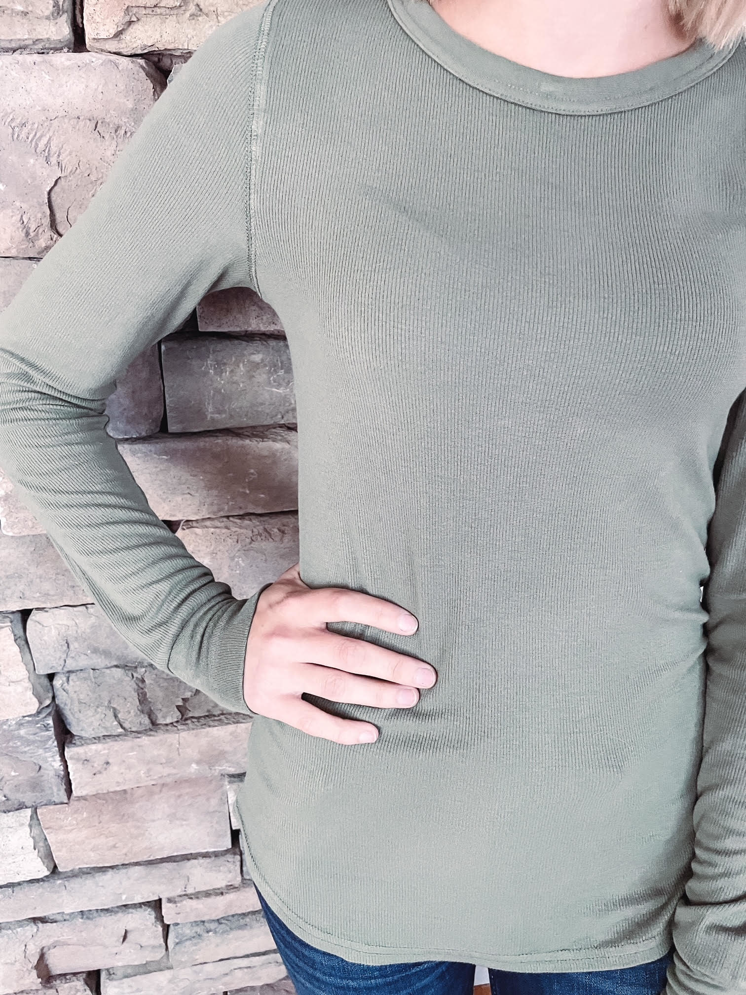 Dusty Olive Stacy Long Sleeve