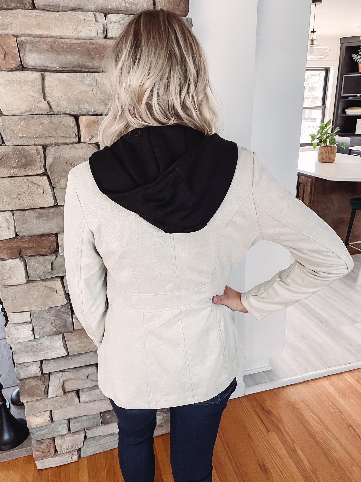 Hailey Cream Suede Jacket