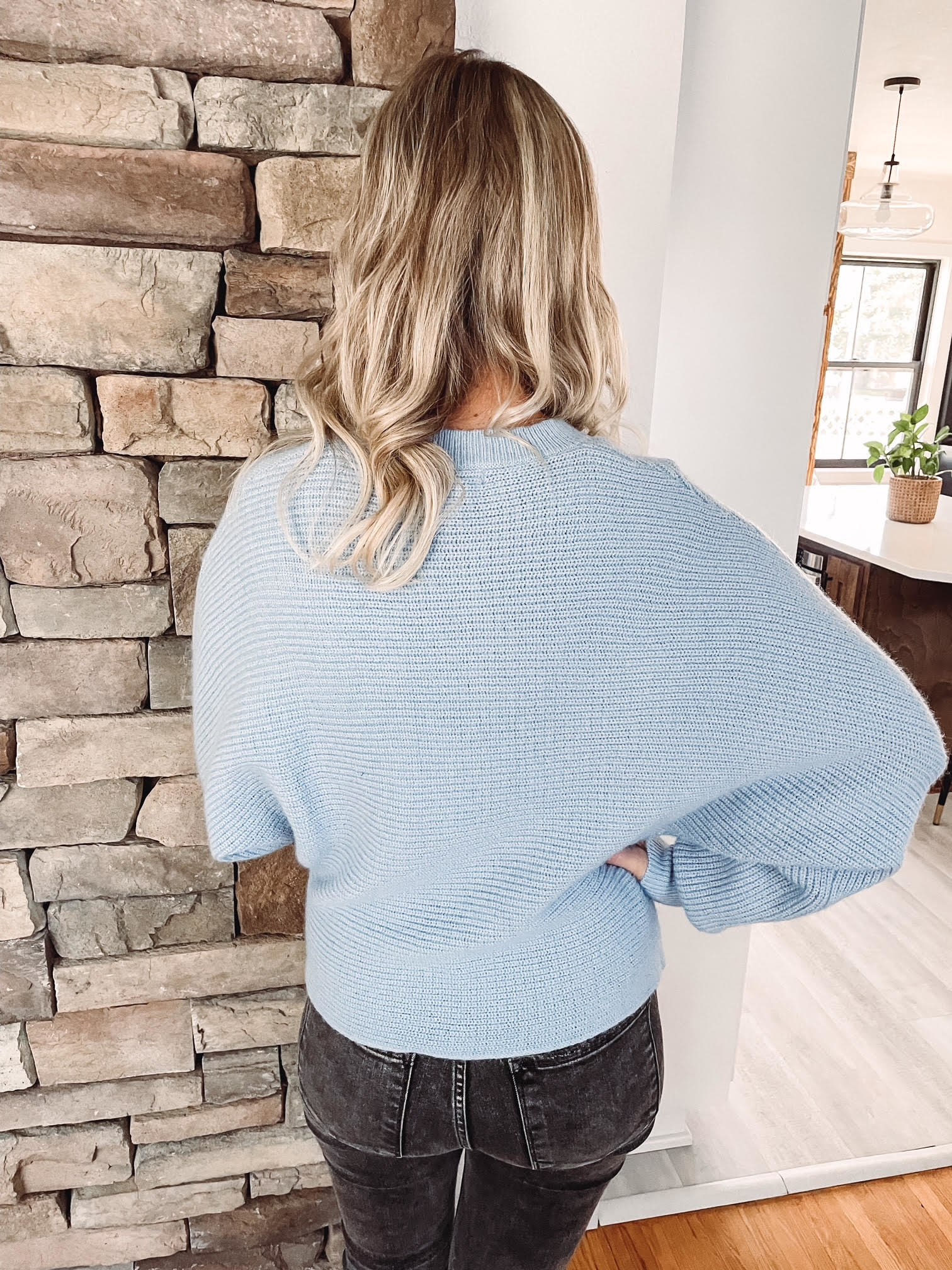 Sadie Blue Cropped Sweater
