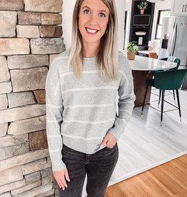 Sawyer Grey + Ivory Sweater