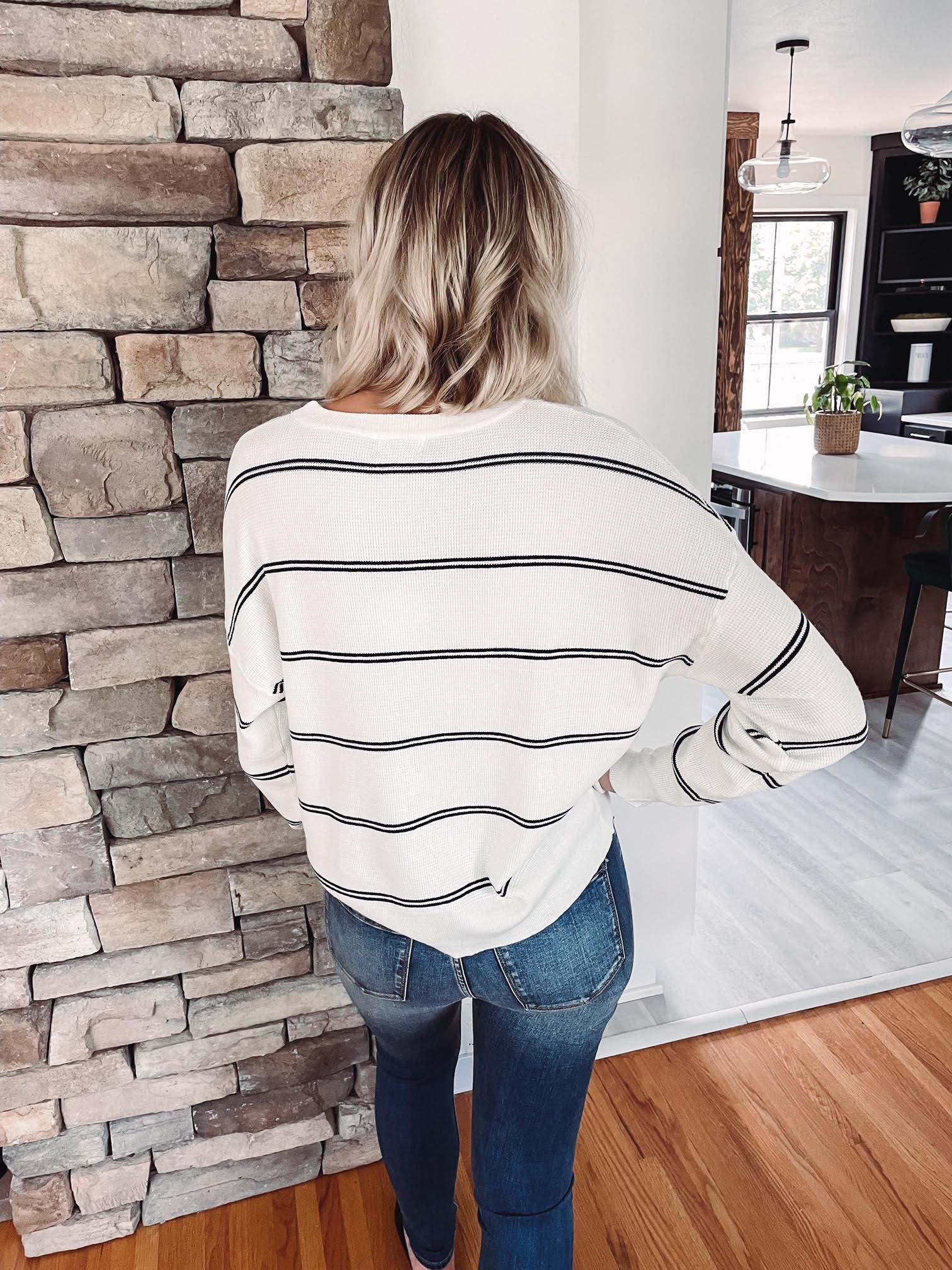 Sawyer Navy + Ivory Sweater