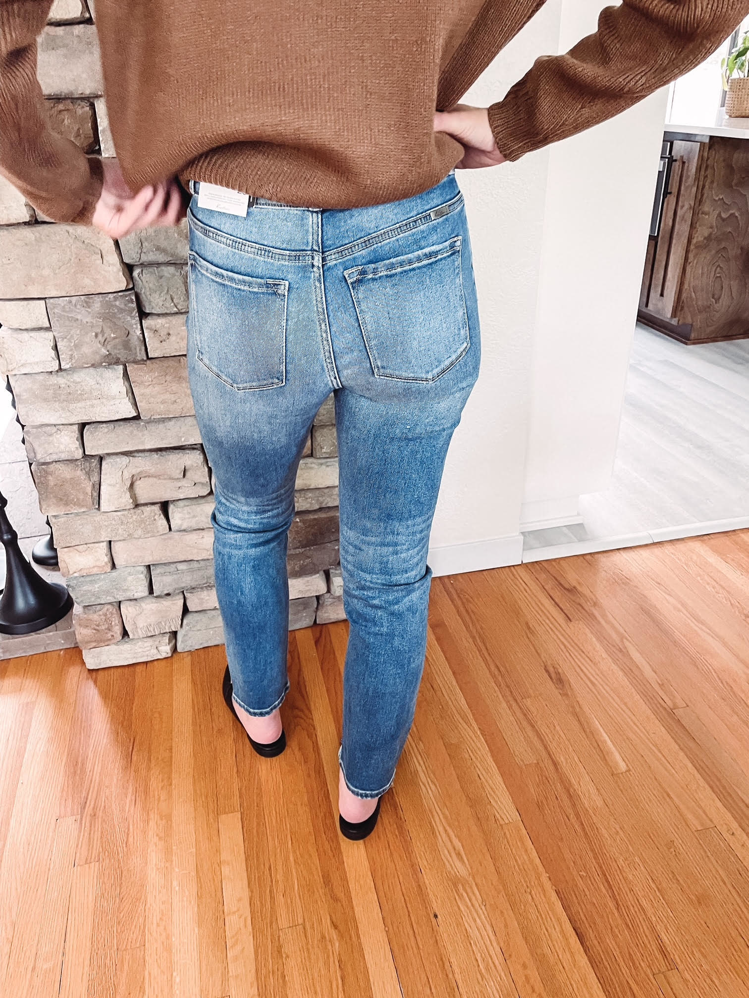 Kelsey High Rise Straight Jean