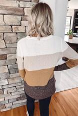 Mia Color Block Sweater