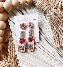 Ellie Pink Rose Earrings