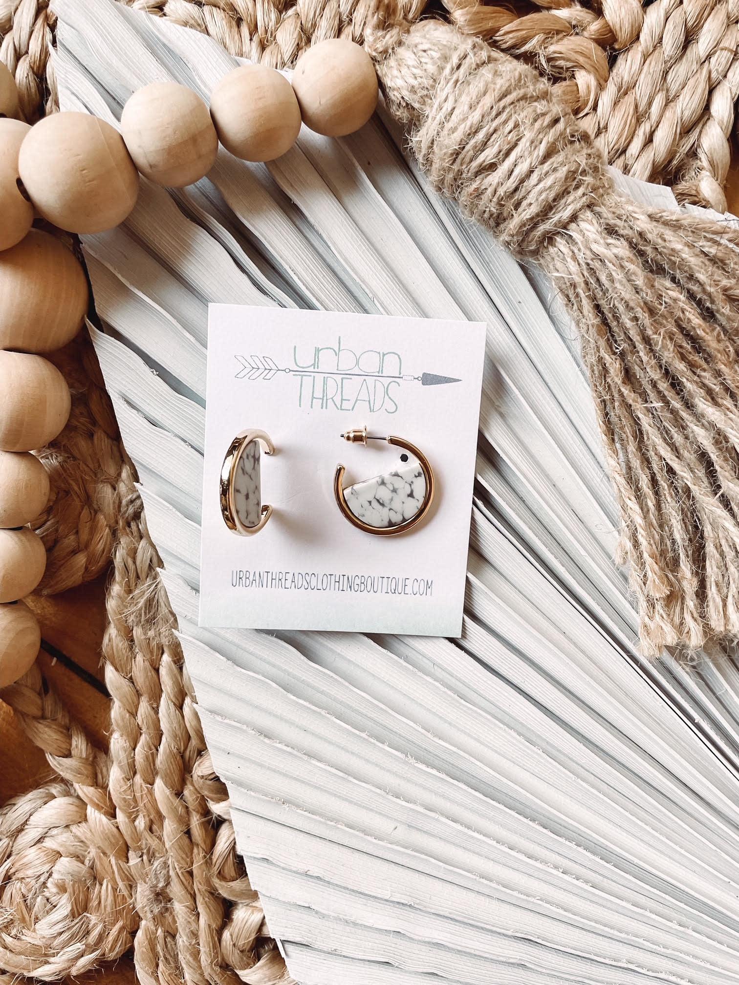 Jaden Gold Marble Earrings