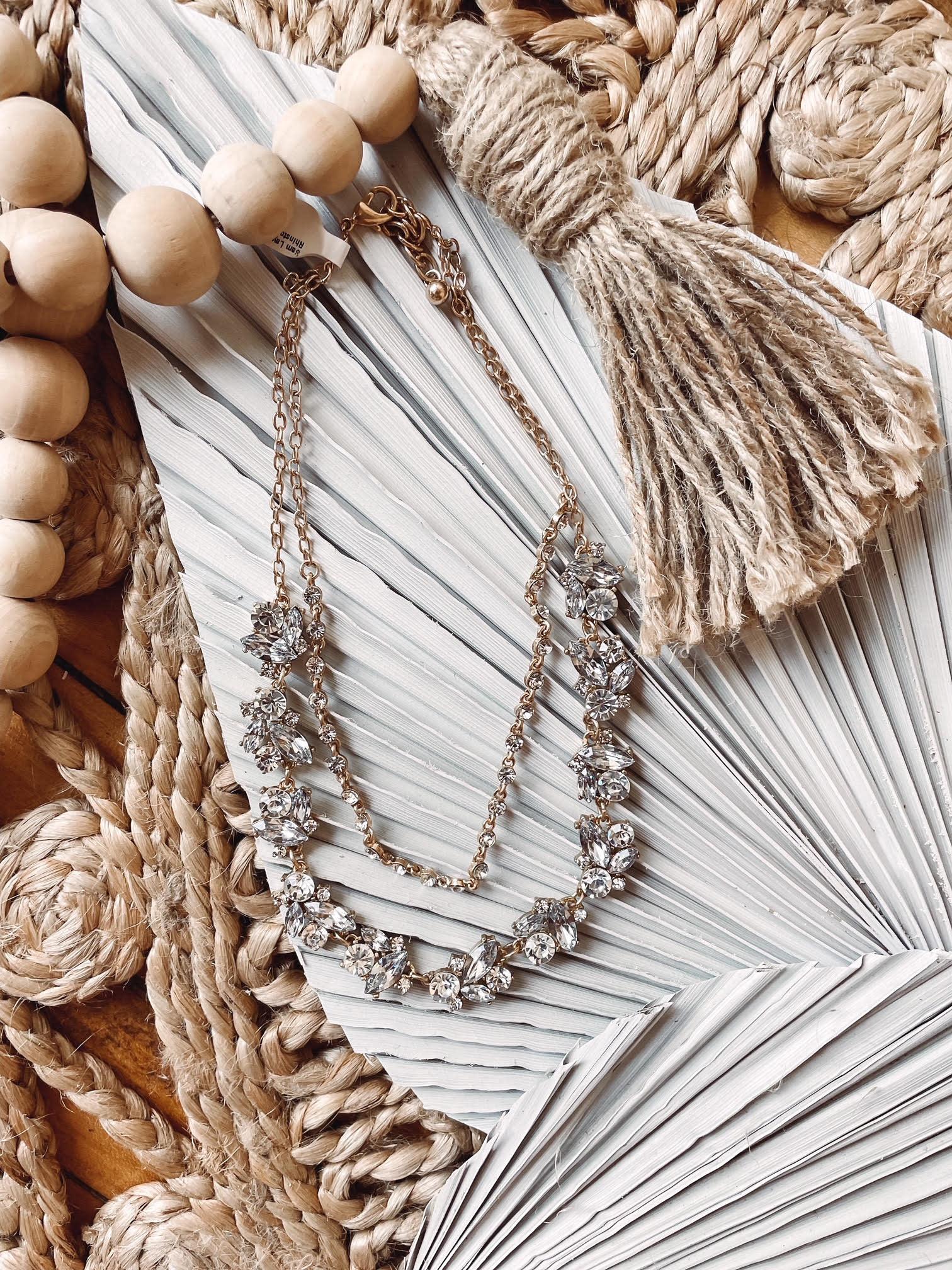 Sam Layered Rhinstone Necklace