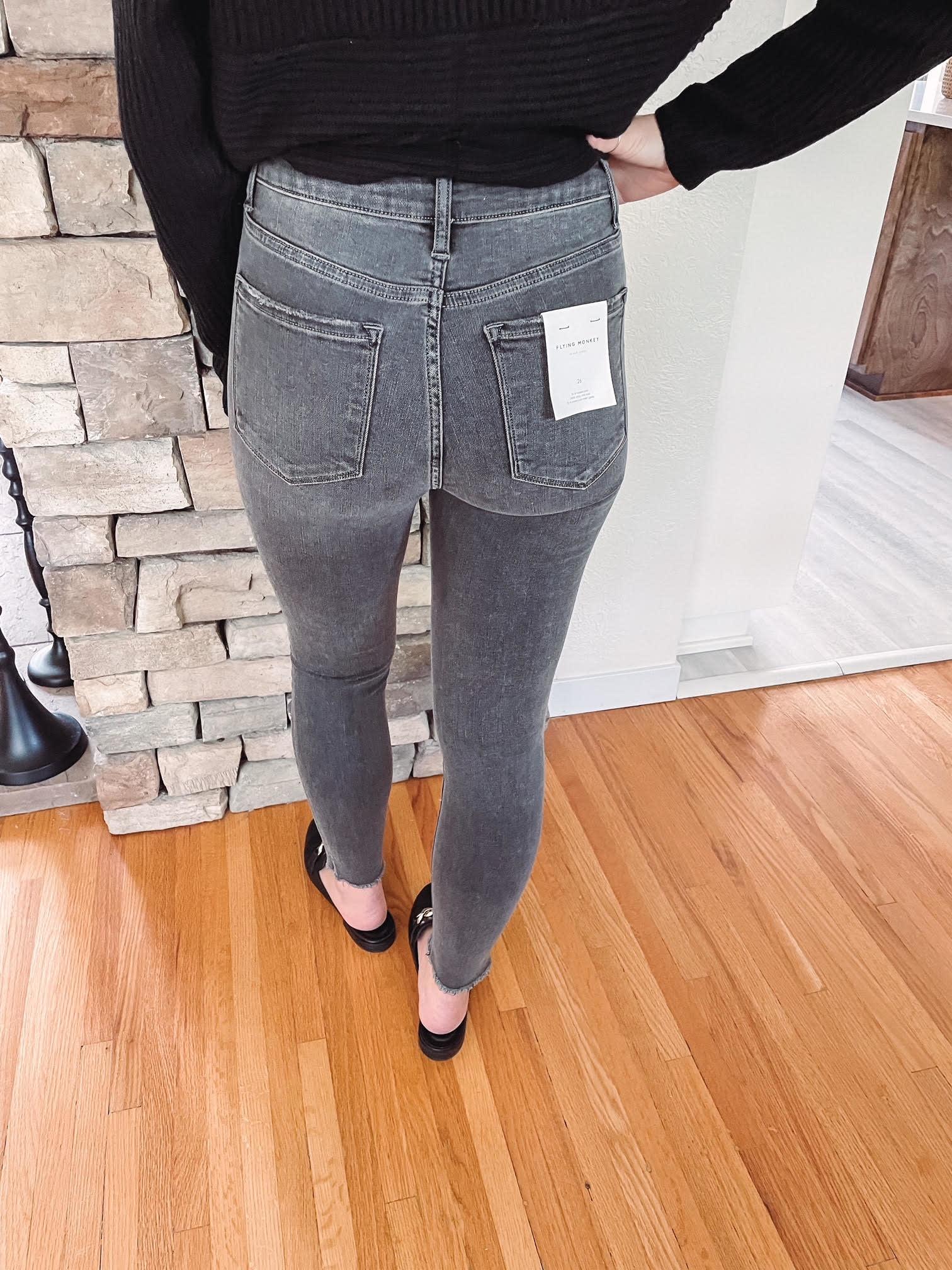 Macy High Rise Black Jeans