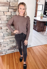 Cappuccino Button Detailed Sweater