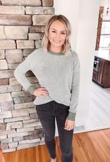 Isla Olive Mixed Sweater