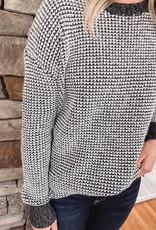 Isla Black Mixed Sweater