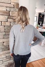 Light Grey Button Detailed Sweater