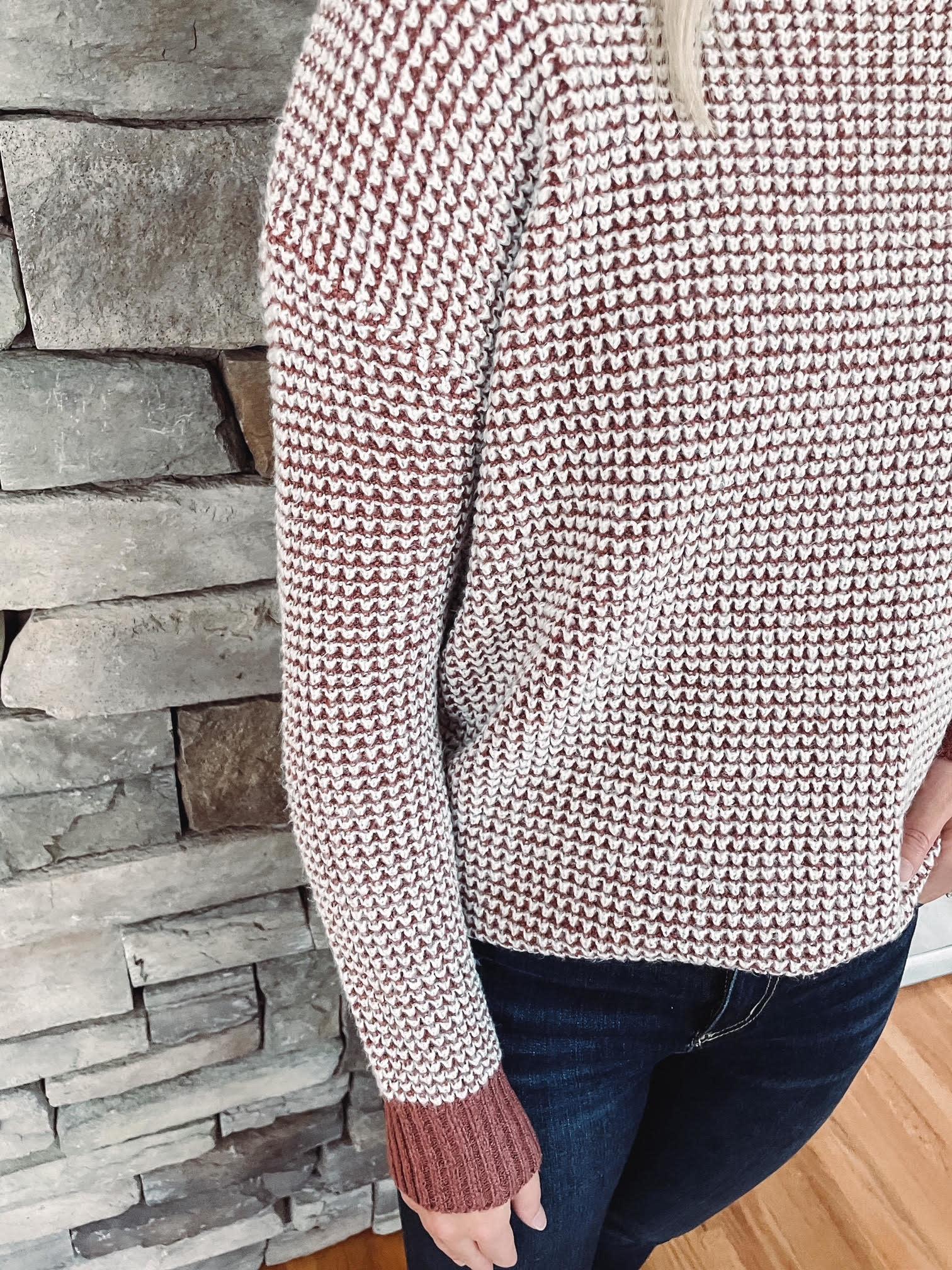 Isla Marsala Mixed Sweater