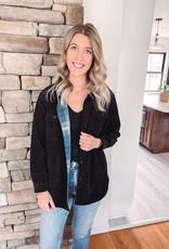 Eve Black Corduroy Reversible Jacket