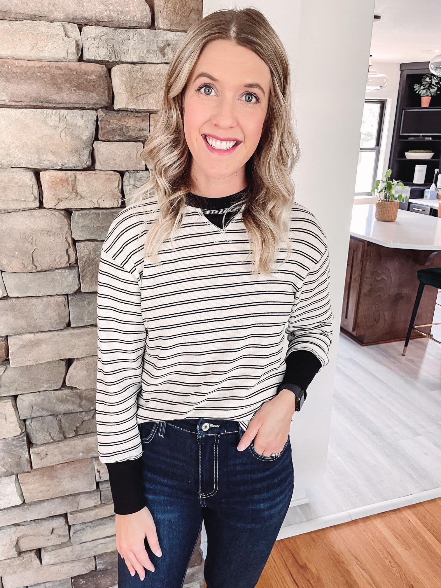 Kaley Striped Knit Top