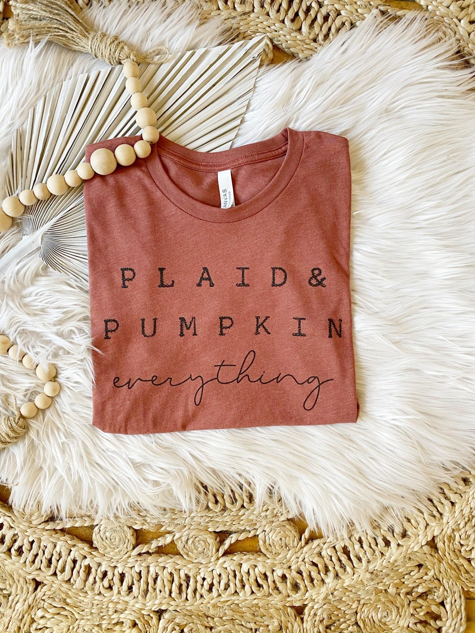 Plaid + Pumpkin Graphic Tee