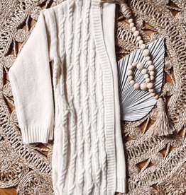 Laney Cream Cable Knit Cardigan