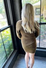 Everly Brunette Sweater Dress