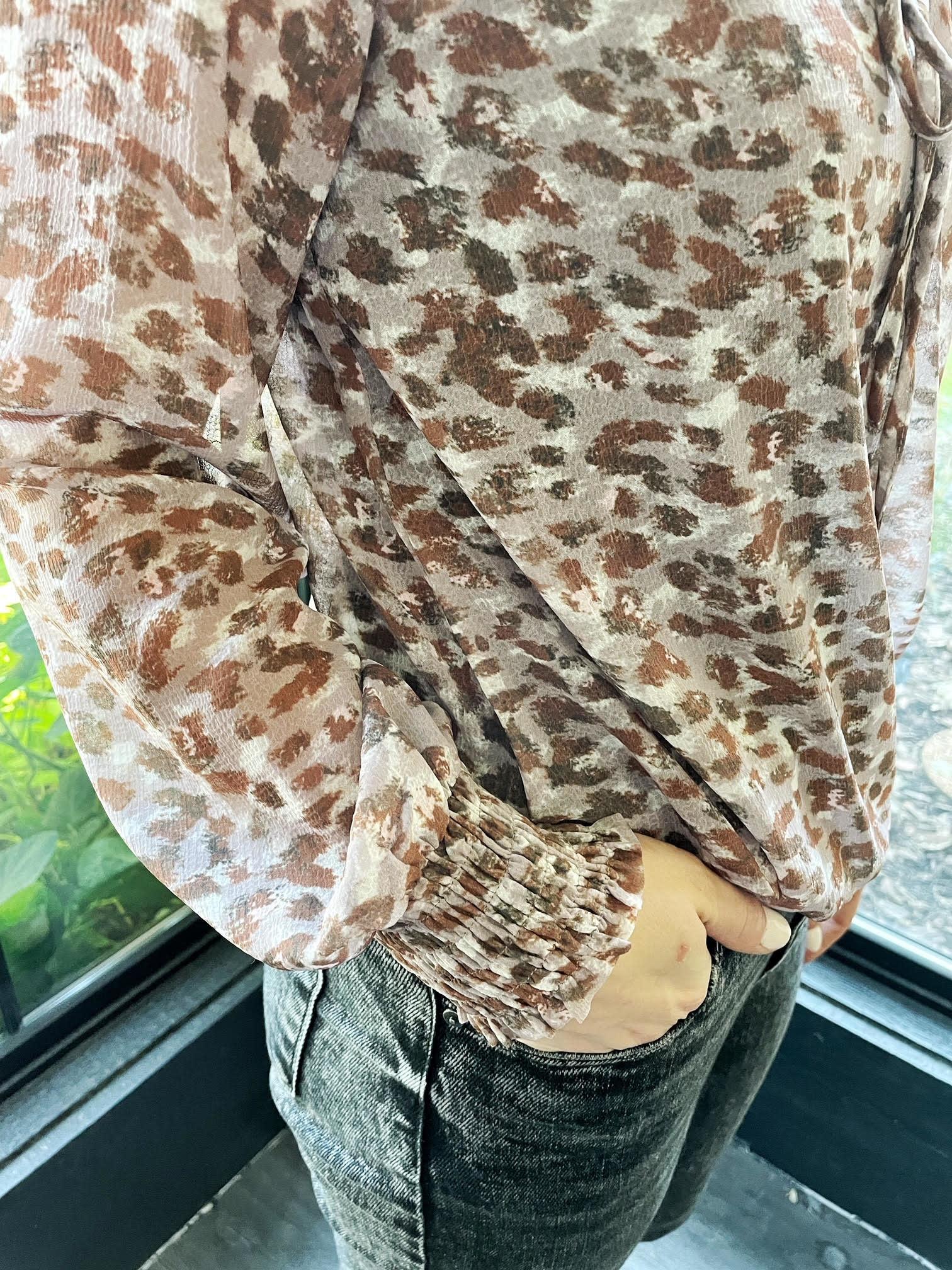 Alysha Animal Print Blouse