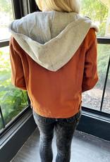 Shea Rust Hooded Jacket