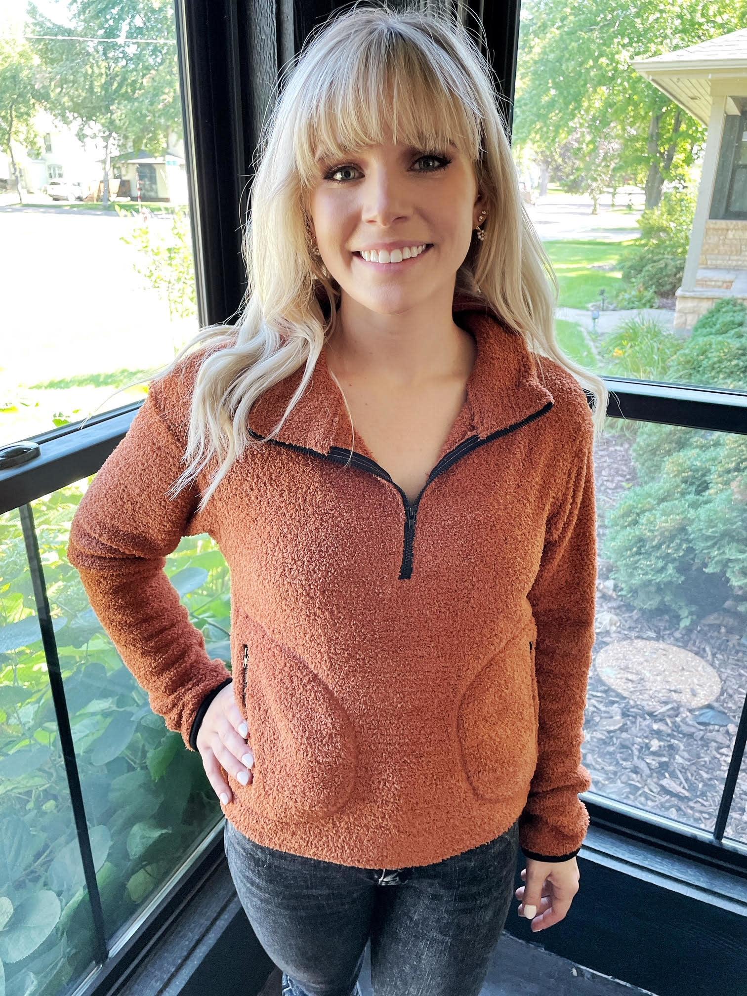 Natalie Half Zip Cozy Sweatshirt
