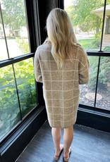 Turtle Neck Plaid Sweater Dress