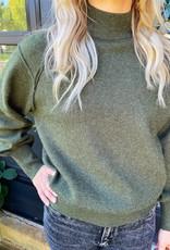 Moss Green Mockneck Sweater
