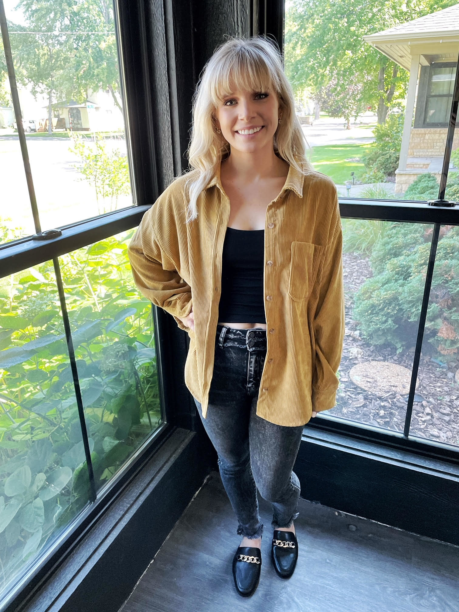 Lexi Mustard Corduroy Jacket