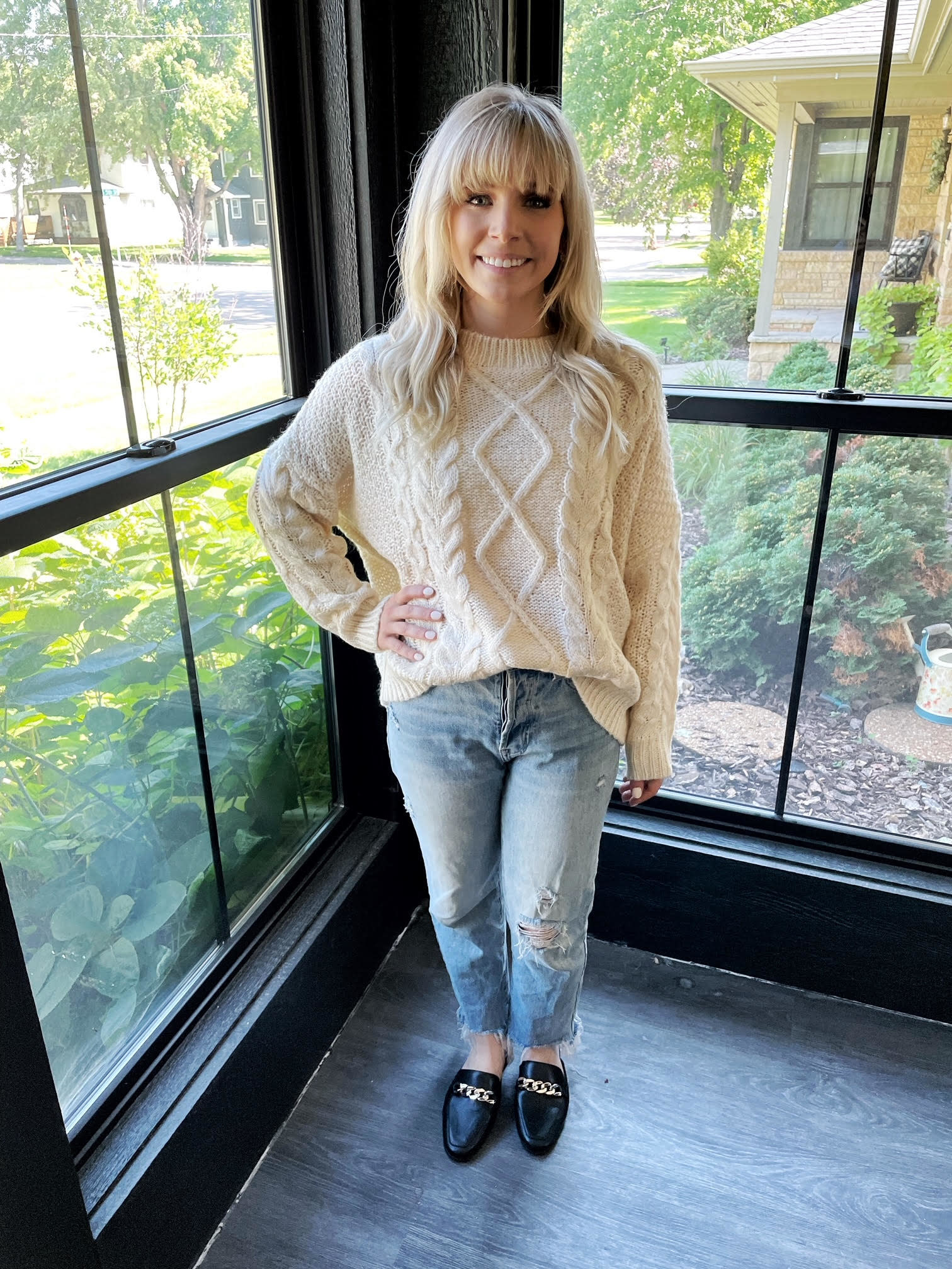 Gretchen Ivory Knitted Sweater