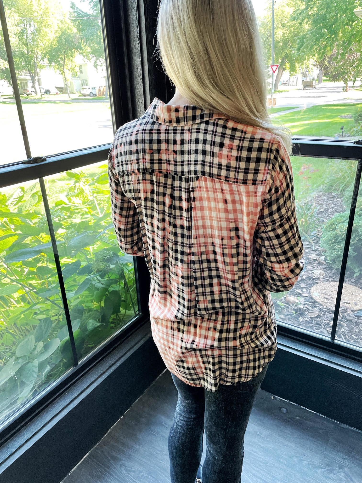 Aubree Washed Checker Shirt